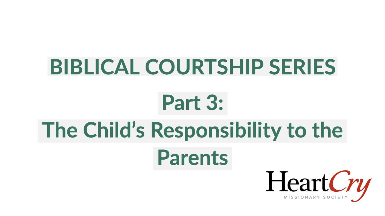 Biblical Courtship 3